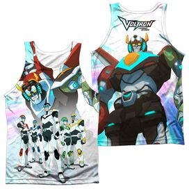 Voltron Team (Front Back Print) Adult Poly Tank Top