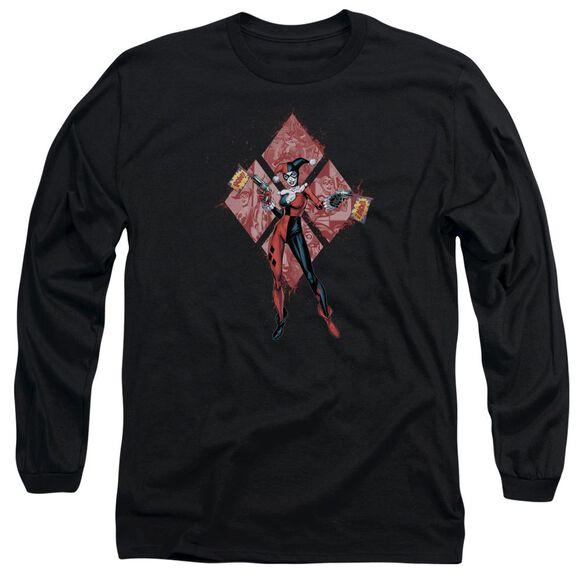 Batman Harley Quinn (Diamonds) Long Sleeve Adult T-Shirt