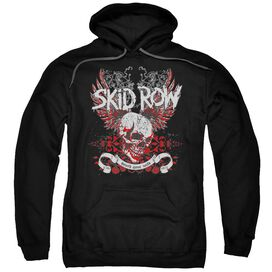 Skid Row Winged Skull Adult Pull Over Hoodie