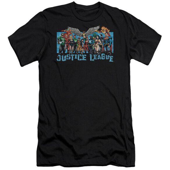 Jla League Lineup Short Sleeve Adult T-Shirt