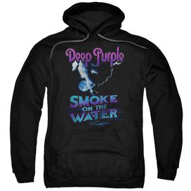 Deep Purple Smokey Water Adult Pull Over Hoodie
