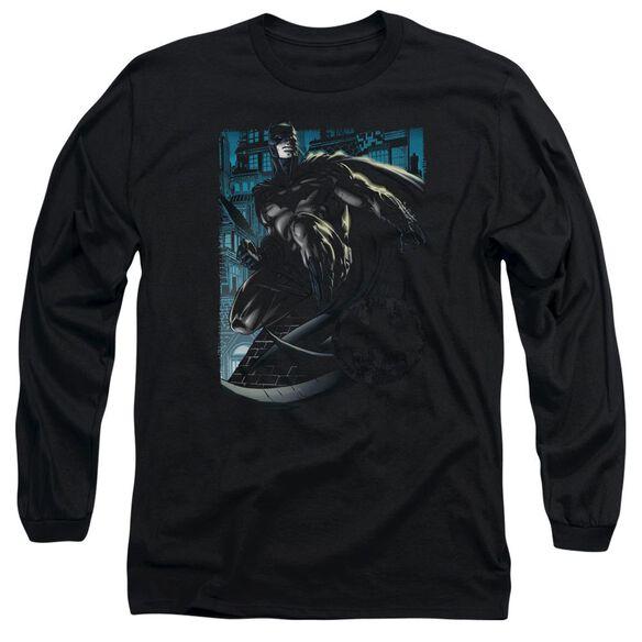 Batman Knight Falls In Gotham Long Sleeve Adult T-Shirt