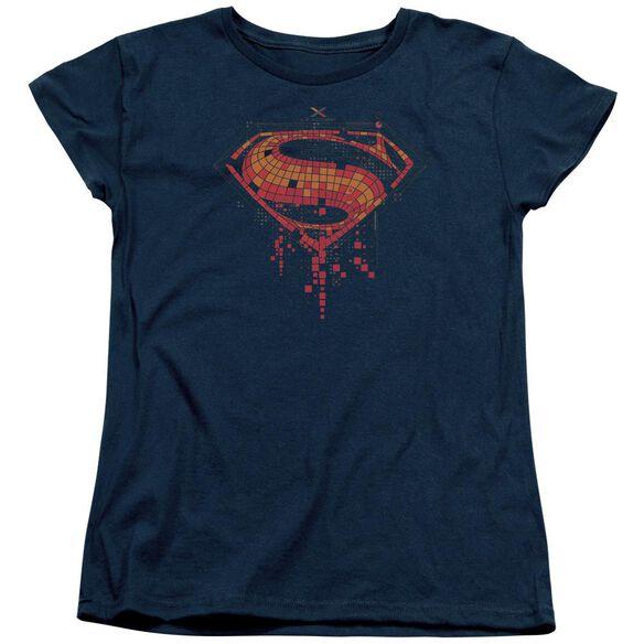 Batman V Superman Tech Super Logo Short Sleeve Womens Tee T-Shirt