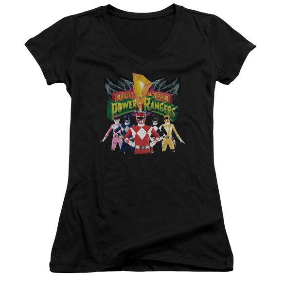 Power Rangers Rangers Unite Junior V Neck T-Shirt