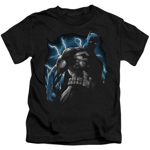 Batman Gotham Lightning Short Sleeve Juvenile Black Md T-Shirt