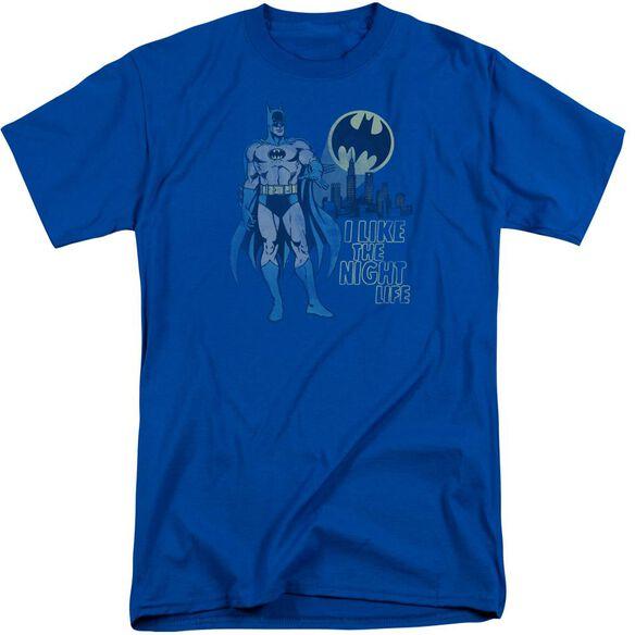 Dc Night Life Short Sleeve Adult Tall Royal T-Shirt