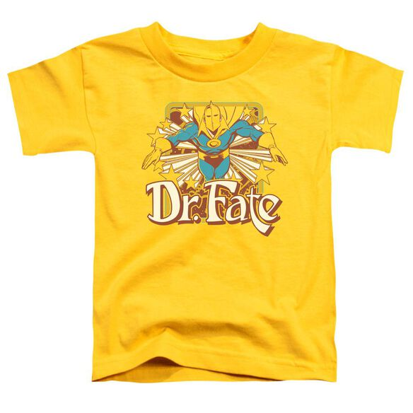 Dc Dr Fate Stars Short Sleeve Toddler Tee Yellow Md T-Shirt