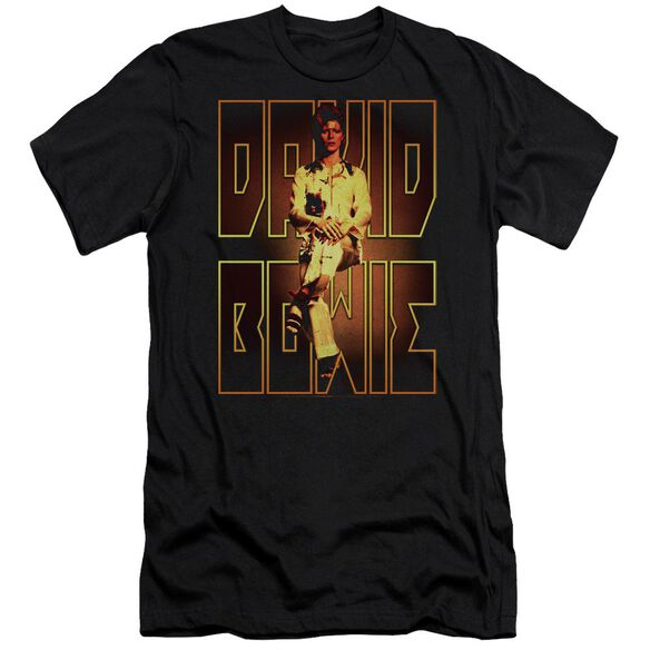 David Bowie Perched Short Sleeve Adult T-Shirt