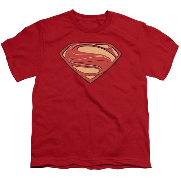Man Of Steel New Solid Shield Short Sleeve Youth T-Shirt