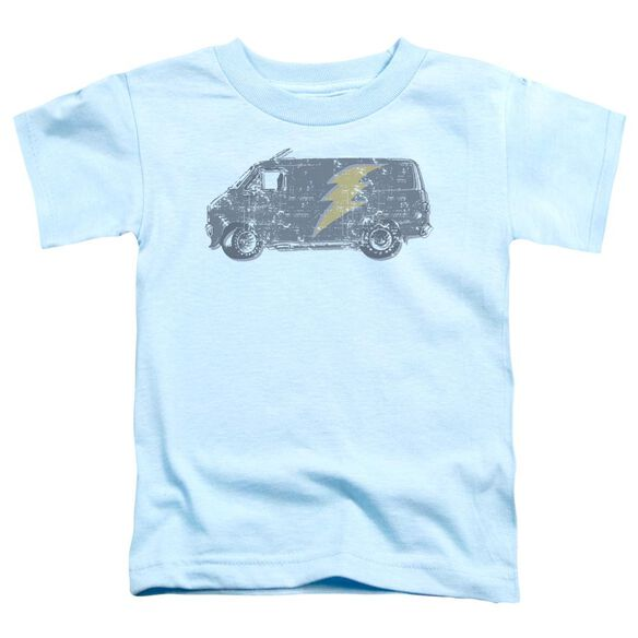 Lightening Van Short Sleeve Toddler Tee Light Blue Sm T-Shirt