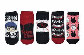 Tokyo Ghoul Women's Cosplay Lowcut Ankle Socks 5-Pack