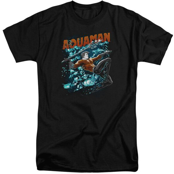 Jla Aqua Bubbles Short Sleeve Adult Tall T-Shirt