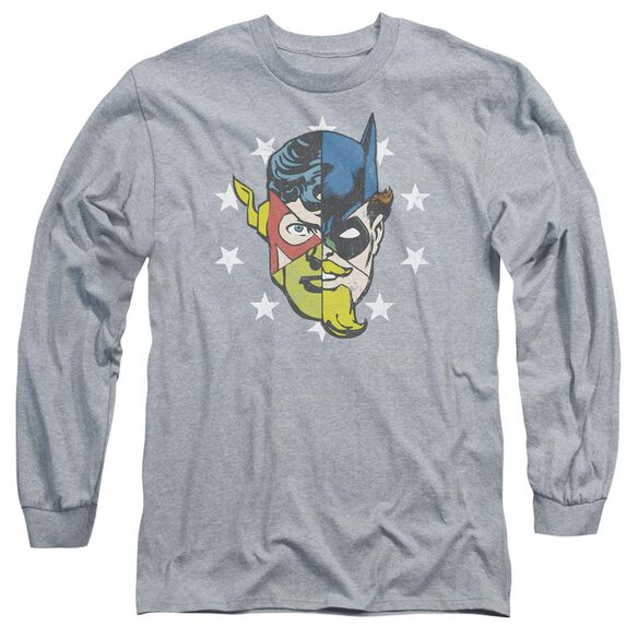 Jla Face Off Long Sleeve Adult Athletic T-Shirt