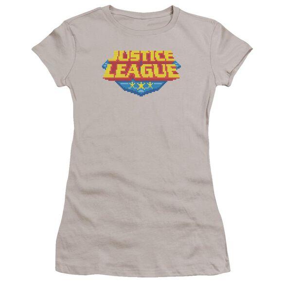 Jla 8 Bit Logo Premium Bella Junior Sheer Jersey