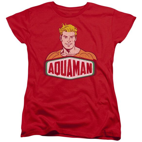Dco Aquaman Sign Short Sleeve Womens Tee T-Shirt