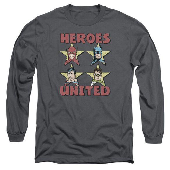 Jla United Stars Long Sleeve Adult T-Shirt