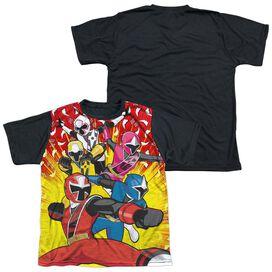 Power Rangers Go Go Ninja Steel Short Sleeve Youth Front Black Back T-Shirt