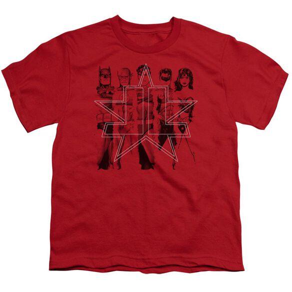 Jla Five Stars Short Sleeve Youth T-Shirt