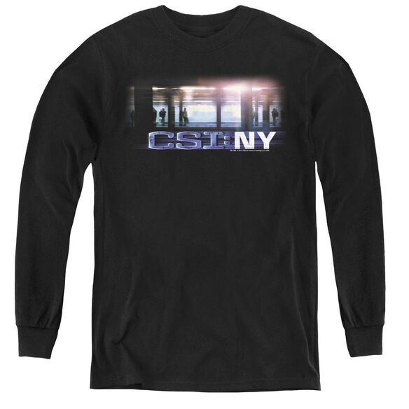 Csi New York Subway - Youth Long Sleeve Tee - Black
