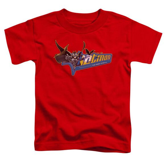 Dark Knight Patch Short Sleeve Toddler Tee Red T-Shirt