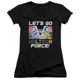 Voltron Lets Go Junior V Neck T-Shirt