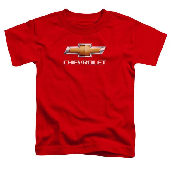 Chevrolet Chevy Bowtie Stacked Short Sleeve Toddler Tee Red T-Shirt