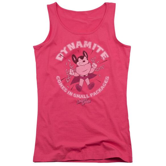Mighty Mouse Dynamite - Juniors Tank Top - Hot Pink
