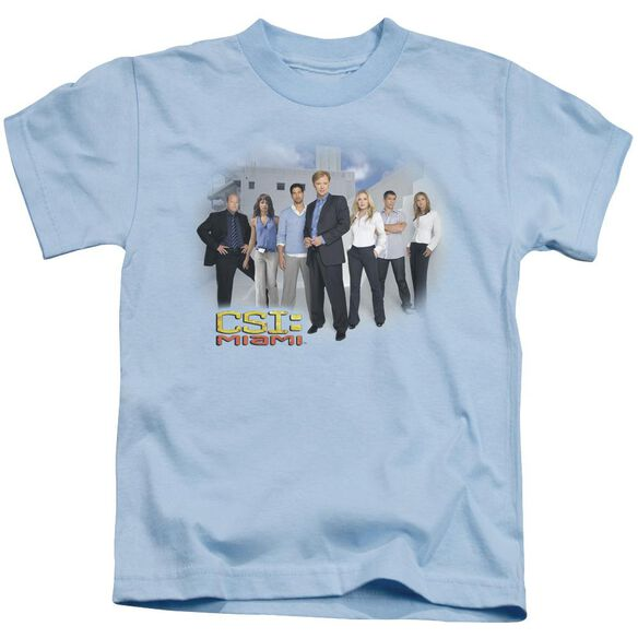 Csi Miami Cast Short Sleeve Juvenile Light Blue Md T-Shirt