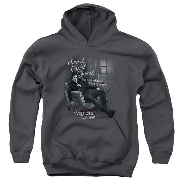 Vampire Diaries Be Yourself Youth Pull Over Hoodie