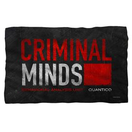 Criminal Minds Logo Fleece Blanket