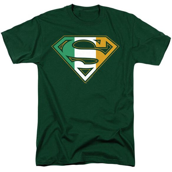 SUPERMAN IRISH SHIELD - S/S ADULT 18/1 - HUNTER GREEN T-Shirt