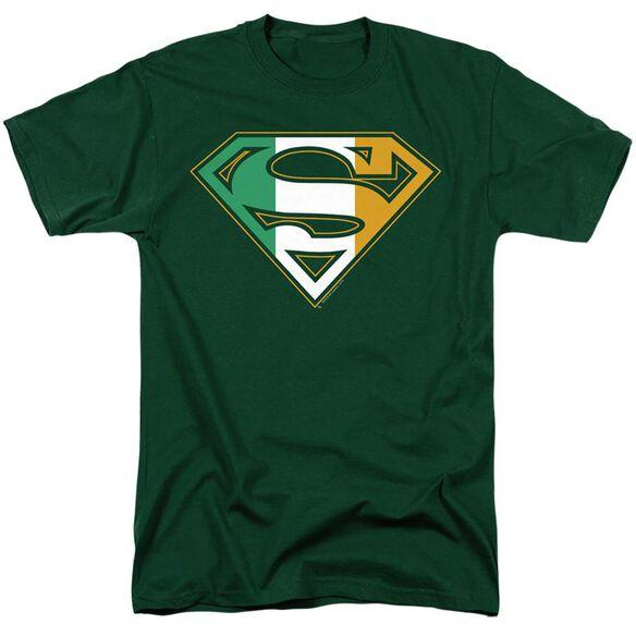 SUPERMAN IRISH SHIELD - S/S ADULT 18/1 - HUNTER GREEN T-Shirt