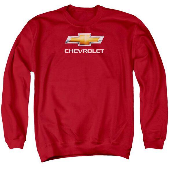 Chevrolet Chevy Bowtie Stacked Adult Crewneck Sweatshirt