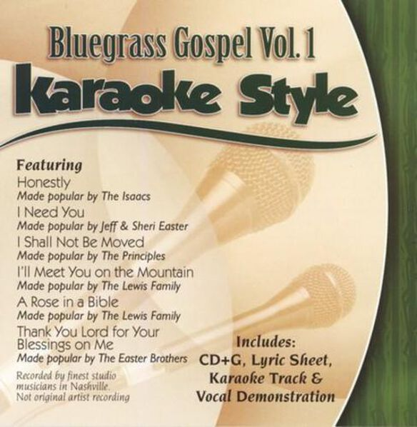 Karaoke Style: Bluegrass Gospel 1 / Various