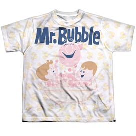 Mr Bubble Bath Buds Short Sleeve Youth Poly Crew T-Shirt