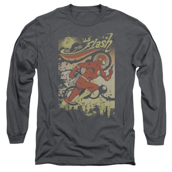Dc Flash Just Passing Through Long Sleeve Adult T-Shirt