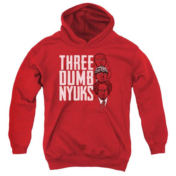 Three Stooges Three Dumb Nyuks Youth Pull Over Hoodie