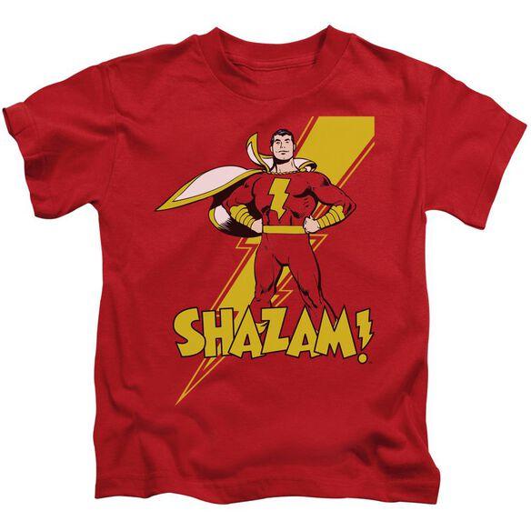 Dc Shazam! Short Sleeve Juvenile Red T-Shirt