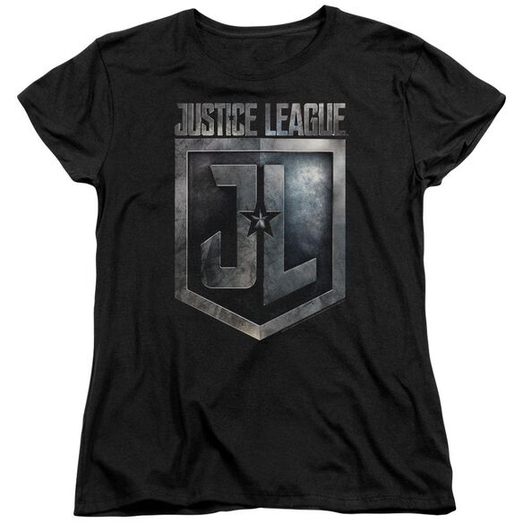 Justice League Movie Shield Logo Short Sleeve Womens Tee T-Shirt