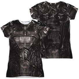 Star Trek Borg Costume (Front Back Print) Short Sleeve Junior Poly Crew T-Shirt