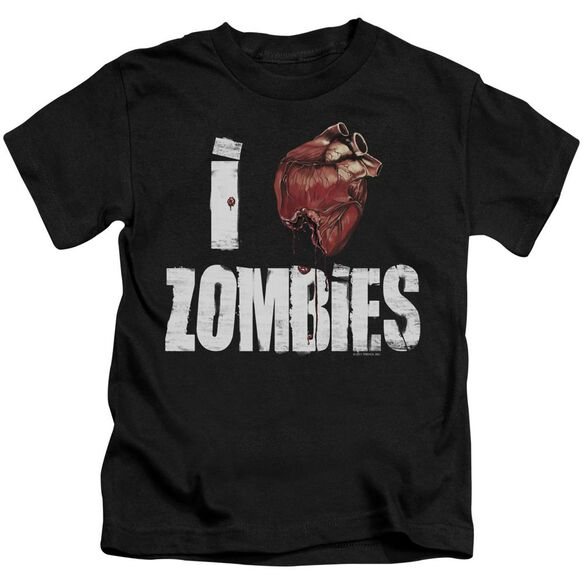 I Bloody Heart Zobmies Short Sleeve Juvenile Black T-Shirt
