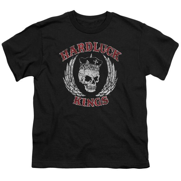 Hardluck Kings Red Letter Distressed Short Sleeve Youth T-Shirt