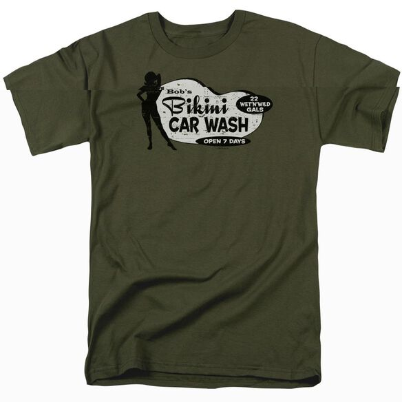 BOBS BIKINI CAR WASH - ADULT 18/1 - MILITARY GREEN T-Shirt