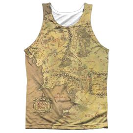 Lor Middle Earth Map Adult 100% Poly Tank Top