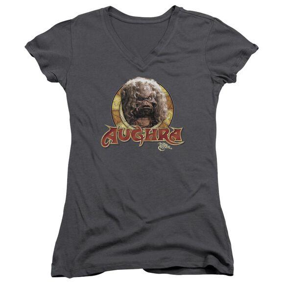Dark Crystal Aughra Circle Junior V Neck T-Shirt