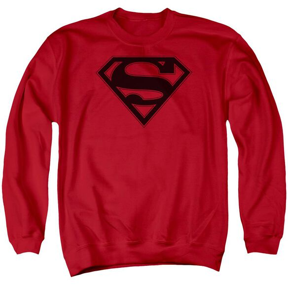 Superman &Amp; Black Shield Adult Crewneck Sweatshirt