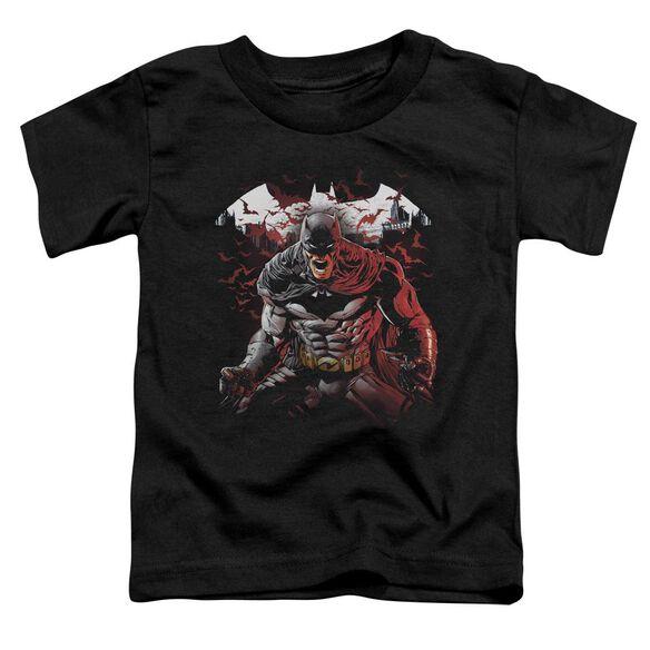 Batman Raging Bat Short Sleeve Toddler Tee Black T-Shirt