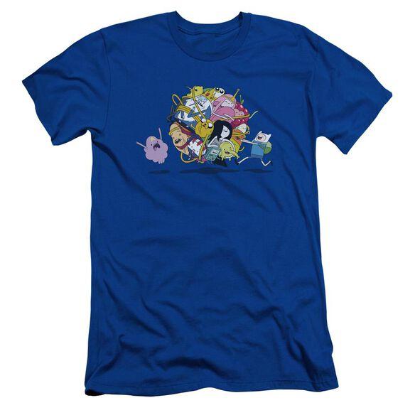 Adventure Time Glob Ball Short Sleeve Adult Royal T-Shirt