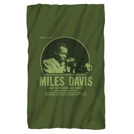 Miles Davis Green Miles Fleece Blanket