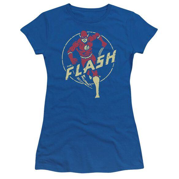 Dc Flash Flash Comics Short Sleeve Junior Sheer Royal T-Shirt